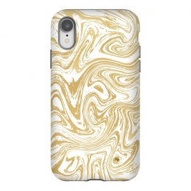 iPhone Xr  Marble Deluxe by Martina (luxury,deluxe,modern,stylish,fashionable,feminine,marble,waves,stone,gold,golden,unique, original)