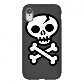 iPhone Xr  Skull & Crossbones by  (skull,skulls,skeleton, vector, death, deathly, dead,pirate, pirate flag,illustrated,bones,symbol, logo,death symbol, sign,emoticon, icon,simple, vector art,cracked skull,wotto,skull face,dark, dark arts)