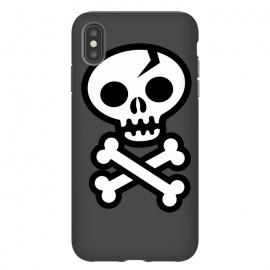Skull & Crossbones by Wotto (skull,skulls,skeleton, vector, death, deathly, dead,pirate, pirate flag,illustrated,bones,symbol, logo,death symbol, sign,emoticon, icon,simple, vector art,cracked skull,wotto,skull face,dark, dark arts)