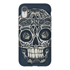 iPhone Xr  Calavera IV by  (skull,skulls,death,dead,day of the dead,mexico, mexican,sugar skull,sugar skulls,dark,Dia de los Muertos,Día de Muertos,calavera, calaveras,roses,patterns,skull art,floral,wotto)