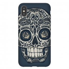 iPhone Xs Max  Calavera IV by Wotto (skull,skulls,death,dead,day of the dead,mexico, mexican,sugar skull,sugar skulls,dark,Dia de los Muertos,Día de Muertos,calavera, calaveras,roses,patterns,skull art,floral,wotto)