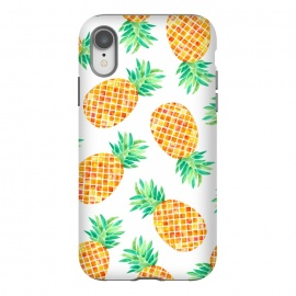 Summer Pineapple by Amaya Brydon (pineapple,fruit,botanical,pattern,orange,yellow)