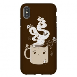 iPhone Xs Max  Extreme Coffee Sports by Wotto (coffee,caffiene,coffee lover,mug,java,monday, cute,extreme sports,surfing,skateboarding, sugar cube,splash,cup,fun, kawaii, wotto)