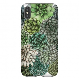 iPhone Xs Max  An Assortment of Succulents by ECMazur