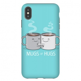 iPhone Xs Max  Mugs of Hugs by Wotto (mugs, coffee, java,caffeine, coffee lover, positive,fun, funny, cute, coffee art,characters,hugs, love,hugging, mondays,mornings, friends, friendship,mates,steam,smiles,loving, caring,gift)
