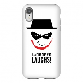 iPhone Xr  Heisenberg Joker I Am The One Who Laughs Breaking Bad Dark Knight  by Alisterny (breakingbad, heisenberg, mrwhite, joker, batman,mashup, mashups, funny, popculture, funnytshirt, funnyshirt, tshirt, parody, nerd, geek, geeky, humor, humour, fanart, fan art, movies, movie, film, quotes, cool, design, tee, t-shirt)
