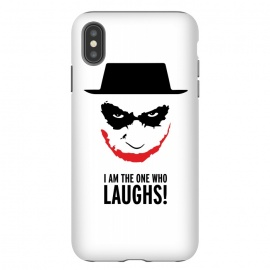 iPhone Xs Max  Heisenberg Joker I Am The One Who Laughs Breaking Bad Dark Knight  by Alisterny (breakingbad, heisenberg, mrwhite, joker, batman,mashup, mashups, funny, popculture, funnytshirt, funnyshirt, tshirt, parody, nerd, geek, geeky, humor, humour, fanart, fan art, movies, movie, film, quotes, cool, design, tee, t-shirt)