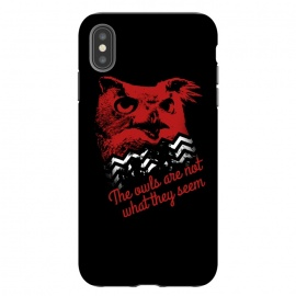 iPhone Xs Max  Twin Peaks The Owls Are Not What They Seem by Alisterny (twin-peaks, twinpeaks, davidlynch, david-lynch, lynch, twinpeaks2017, dale-cooper, dalecooper, owl, owls, the-owls-are-not-what-they-seem, black-lodge, blacklodge, theowlsarenotwhattheyseem,mashup, mashups, funny, popculture, funnytshirt, funnyshirt, tshirt, parody, nerd, geek, geeky, humor, humour,)