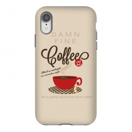 iPhone Xr  Twin Peaks Damn Fine Coffee by  (twin-peaks, twinpeaks, davidlynch, david-lynch, lynch, twinpeaks2017, showtime, dale-cooper, dalecooper, black-lodge, blacklodge, coffee, damn-good, damngood, damn-fine,mashup, mashups, funny, popculture, funnytshirt, funnyshirt, tshirt, parody, nerd, geek, geeky, humor, humour, fanart, fan art, mov)