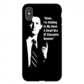 iPhone Xs Max  Twin Peaks Diane Chocolate Bunnies by Alisterny (twin-peaks, twinpeaks, davidlynch, david-lynch, lynch, laurapalmer, laura-palmer, twinpeaks2017, dale-cooper, dalecooper, chocolate, bunnies, diane,mashup, mashups, funny, popculture, funnytshirt, funnyshirt, tshirt, parody, nerd, geek, geeky, humor, humour, fanart, fan art, movies, movie, film, quo)