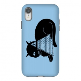 iPhone Xr  Cat Illuminati Blue by Coffee Man