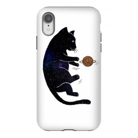 iPhone Xr  Cat Universe by Coffee Man (cat, cats, cat lover, animal, animal lover, pet, pet lover, universe, space, galaxy, planets, stars, astronauts, cat space, adorable, cute, fun, funny, gato)