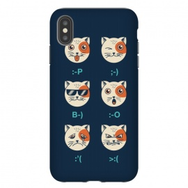 iPhone Xs Max  Cat Emoticon by Coffee Man