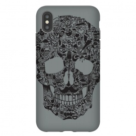 iPhone Xs Max  Made of Many Things by Wotto (Skull, many things,vector,detail,detailed,calavera,skulls,illustration,cool, death, dead, symbols, symbolic,death art, dark arts, wotto)