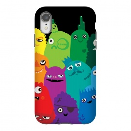 iPhone Xr  Phone full of Monsters by  (bright, monsters, colorful,bold, characters, kids, child friendly,fun, unique,rainbow,monster,funny,cute, kawaii, wotto,vector art, vectors)