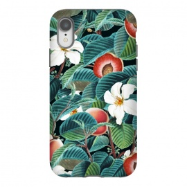 iPhone Xr  Kalon by Uma Prabhakar Gokhale (acrylic, other, pattern, realism, nature, botanical, floral, fruit, leaves, peach, tropical, dark, forest, exotic)