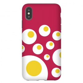 iPhone Xs Max  The Fried Eggs Rebellion by Dellán (egg,gourmet,fucsia,foodie,chef,game,minimalist,hipster,natural,fresh design,fried,launch,chiken,spacecraft)