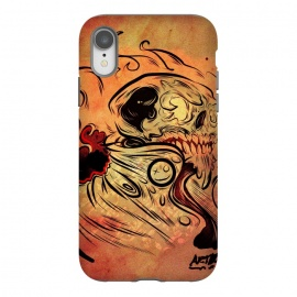 iPhone Xr  Ghost flame skull by David dejaun johnson