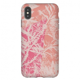 iPhone Xs Max  Flurry by Zala Farah (print,pattern,floral,leaves,illustration,cute,pretty,pink,nature,nature print,floral print,branches,branch print)