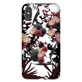 iPhone Xs Max  Floret Cluster by Zala Farah (floral collage,floral,floral print,dark,dark flowers,flowers,flower collage,flower print,flower pattern,print,pattern,dark flower,dessert print,lush,dark lush print,zala02creations)