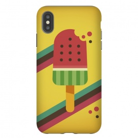 iPhone Xs Max  Hot & Fresh Watermelon Ice Pop by Dellán (ice cream,retro,vintage,ice pop,watermelon,fruits,beach,summer,good vibes,fresh,hipster,trendy,food,gourmet,hot)