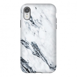 iPhone Xr  Affluence by Uma Prabhakar Gokhale (graphic, pattern, black and white, marble, exotic, tropical, nature, white marble)