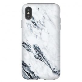 iPhone Xs Max  Affluence by Uma Prabhakar Gokhale (graphic, pattern, black and white, marble, exotic, tropical, nature, white marble)