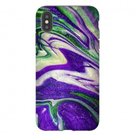 iPhone Xs Max  AC18 by Ashley Camille (purple,green,abstract,paint,painting)