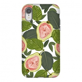 iPhone Xr  Guava by Uma Prabhakar Gokhale (pattern, acrylic, food, fruit, tropical, botanical, nature, exotic, pastel)