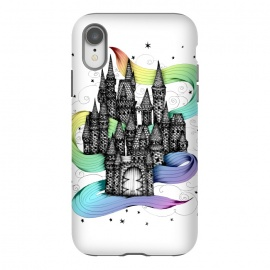 iPhone Xr  Super Magic Rainbow Dream Castle by ECMazur  (castle,magic,fantasy,stars,rainbow,happy)