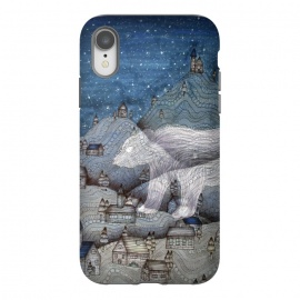 iPhone Xr  I Protect this Place II | The Bear by ECMazur  (bear,ghost,fairy tale,folktale,magic,mountains,night,stars)