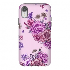 iPhone Xr  Pink Vintage Florals by  (pink,florals,flowers,botanical,garden,pretty,blossoms,peonies,rose)