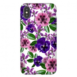 iPhone Xs Max  White Floral Garden by Zala Farah