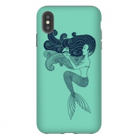 iPhone Xs Max  Mermaid Night green by Coffee Man