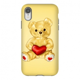 iPhone Xr  Cute Teddy Bear Hypnotist With Heart by Boriana Giormova (teddy,bear,teddy bear,cute,toy,toys,heart,love,fluffy,sweet,adorable,fun,romantic,soft,lovely,joy,cuddly)