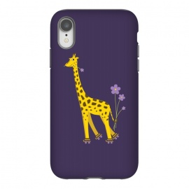 iPhone Xr  Cute Funny Rollerskating Giraffe by Boriana Giormova