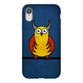 iPhone Xr  Funny Cartoon Horned Owl by Boriana Giormova