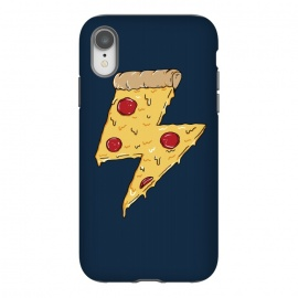 iPhone Xr  Pizza Power by Coffee Man (pizza,power, ray,lighting,pepperone,fast food, food, cheese,melted,geek,restaurant, urbarn)
