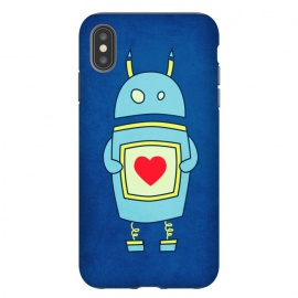 iPhone Xs Max  Clumsy Cute Robot With Heart by Boriana Giormova