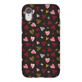 iPhone Xr  Chalkboard Love by Rhiannon Pettie (hearts,kisses,chalk,love)