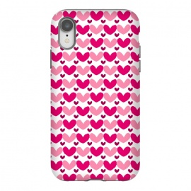 iPhone Xr  Pink Brushed Hearts by Rhiannon Pettie (love,hearts,pattern,pink)