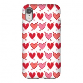 iPhone Xr  Peachy Arrowhearts by Rhiannon Pettie (arrow,love,valentines,loveheart)