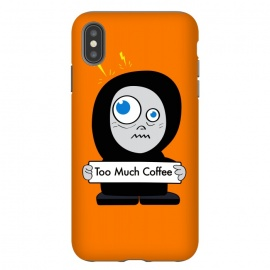 Funny Cartoon Character Too Much Coffee by Boriana Giormova