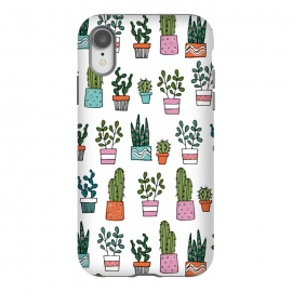 iPhone Xr  cacti in pots 2 by Laura Grant (cacti,cactus,house plant,plant,plant pot,crazy plant lady)