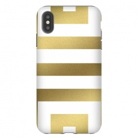 iPhone Xs Max  Gold Stripes by Caitlin Workman