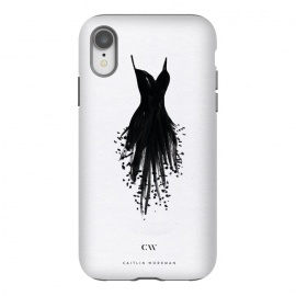 iPhone Xr  Little Black Fringe Dress by Caitlin Workman