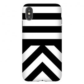 iPhone Xs Max  Black Stripes by Caitlin Workman