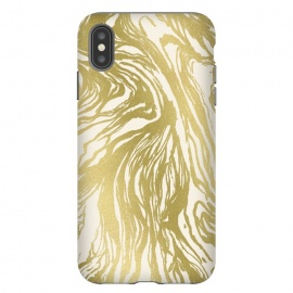 iPhone Xs Max  Gold Marble by Caitlin Workman