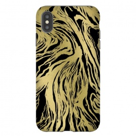 iPhone Xs Max  Black and Gold Marble by Caitlin Workman