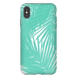 iPhone Xs Max  Palms Teal by Caitlin Workman